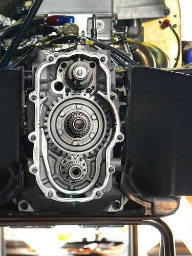 Gearbox side engine
