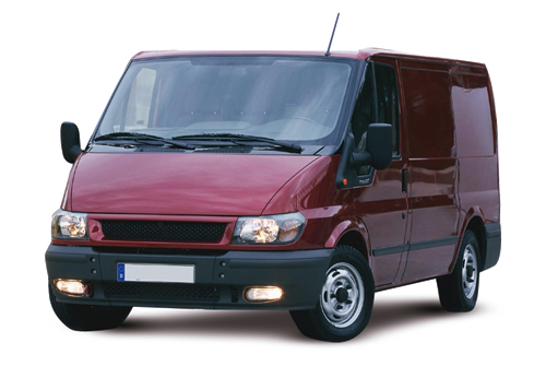 Ford transit van red