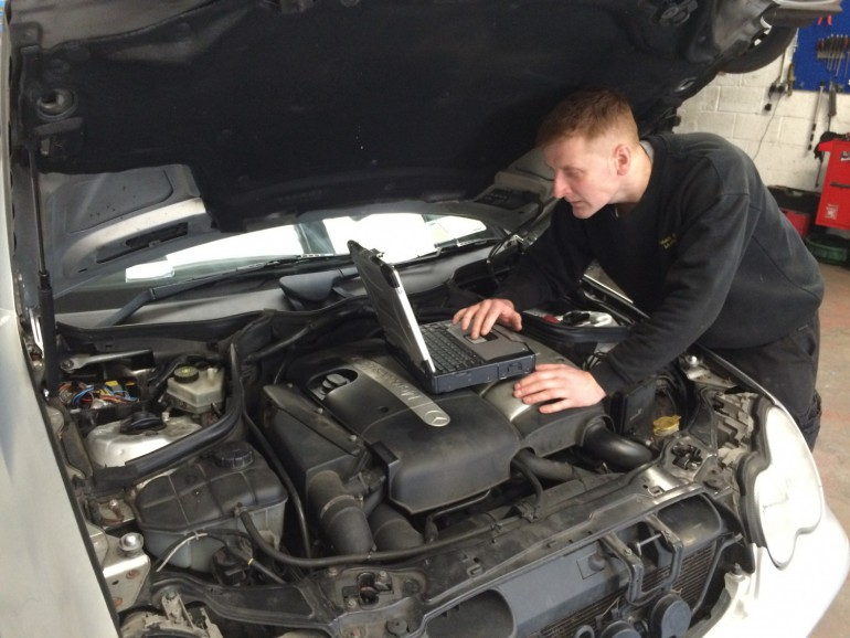 Ronan checking engine