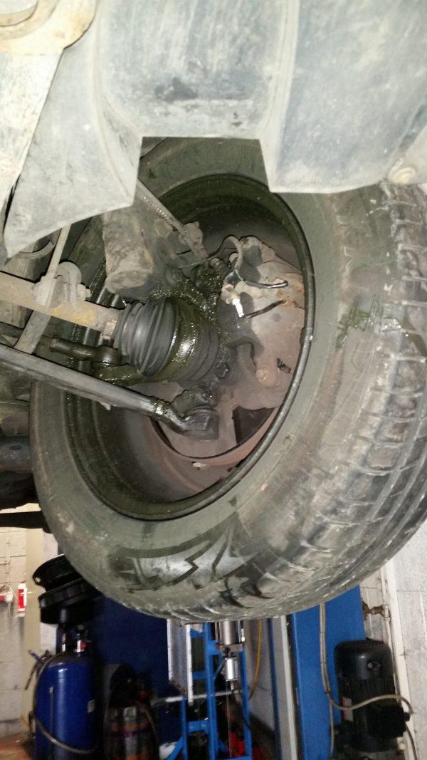 torn outer cv boot